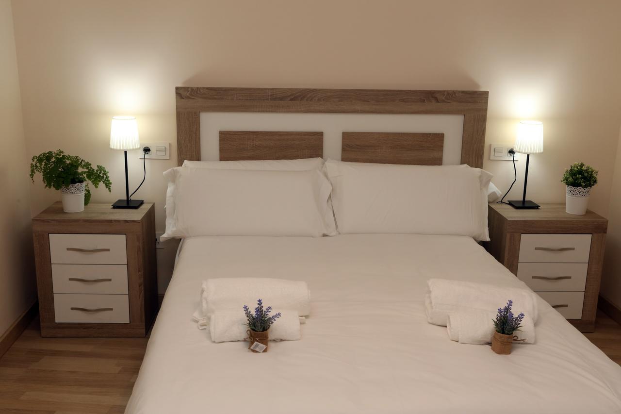 Dormitorio del apartamento Calisto y Melibea en Salamanca