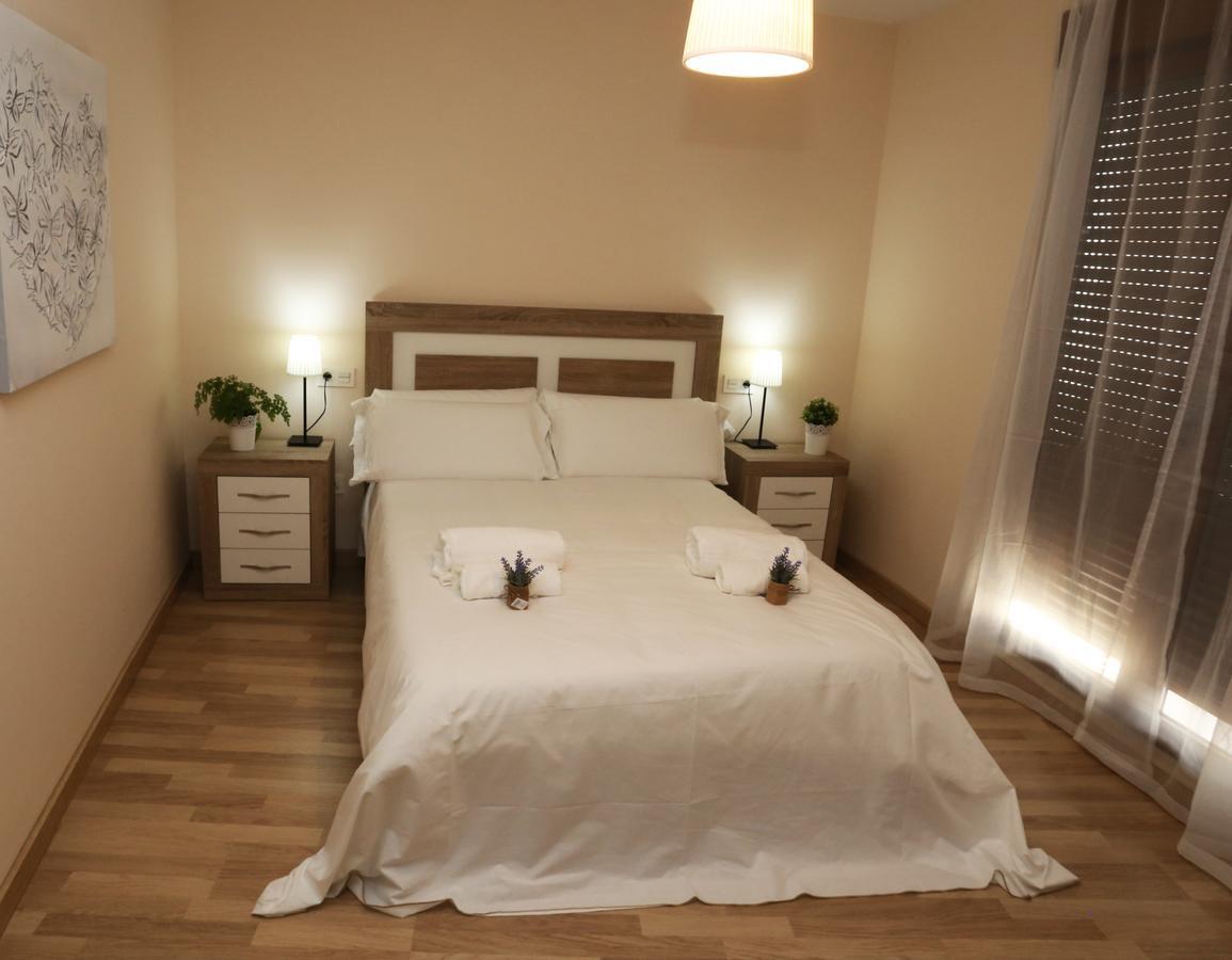 Dormitorio del apartamento Abraham Zacut en Salamanca